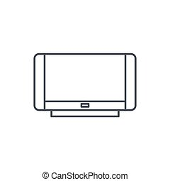 high resolution tv thin line icon. Linear vector symbol