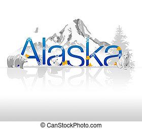"""Alaska - High resolutions """"Alaska"""" illustration with..."""