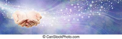 High Resonance Healing Energy Message Background Banner