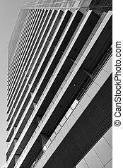 High-rise apartment building - Perspective of high-rise ...