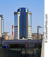 high-rise building, Moscow-city