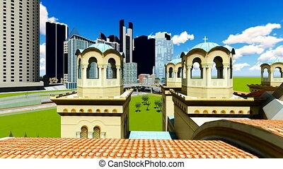 Concrete jungle - urban panorama