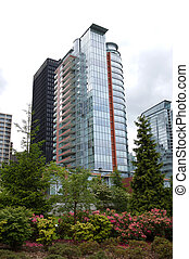 high-rise buildings in downtown vancouver