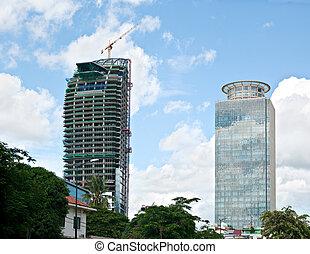 High-rise buildings in Phnom Penh, Cambodia - High-rise...
