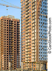 High-rise buildings under construction