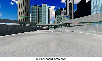 High rise buildings - Concrete jungle - urban panorama