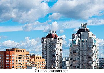 high-rise, casa apartamento, em, moscou