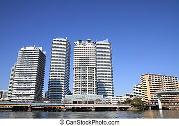 High-rise condominium in Yokohama Portside area, Yokohama,...