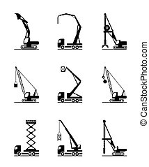 High-rise construction machinery - vector illustration