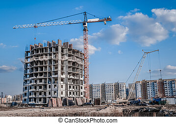 High-rise crane and construction industry