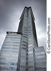 high-rise, edifícios, em, centro cidade, vancouver