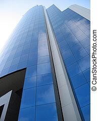 high-rise, gebouw, in, santiago, chili