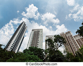 High rise luxurious condominium