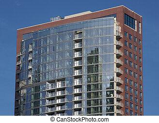 high-rise, modern, eigentumswohnungen