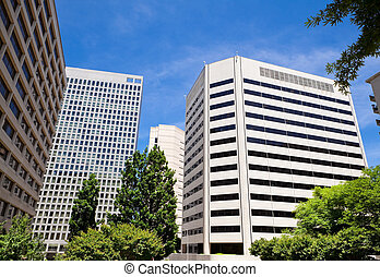 High Rise Office Buildings Downtown Rosslyn Virginia United States