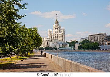 high-rise, predios, ligado, kotelnicheskaya, dique, em,...