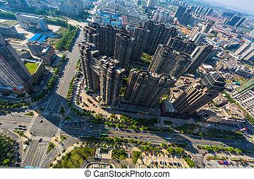 high rise residential area at nanchang china.
