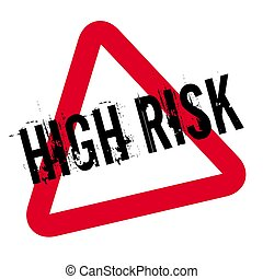 High Risk typographic stamp. Typographic sign, badge or...