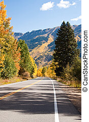 High road in Colorado Fall