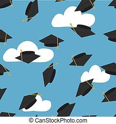high school graduation - graduation.vector illustration....