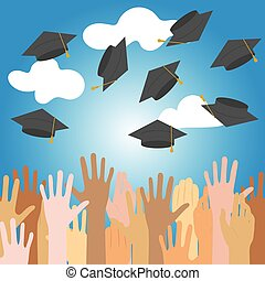 high school graduation.vector illustration