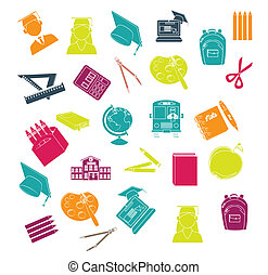 High school - high school signs over white background vector...
