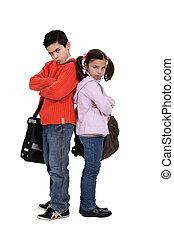 high school pupil disgruntled