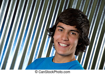 High school student - Portrait of a handsome teenager in the...
