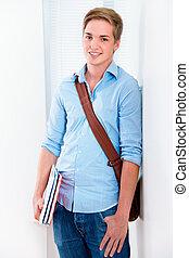 high-school student smiling