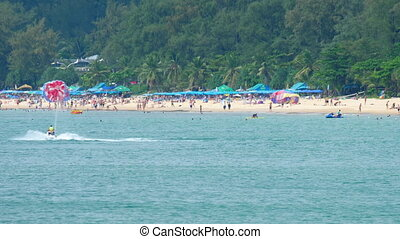 High season in Karon beach in Phuket