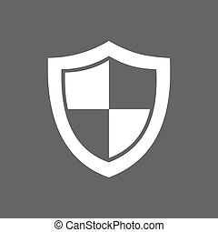 High security shield icon on a dark background