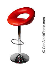 High soft bar stool isolated on white