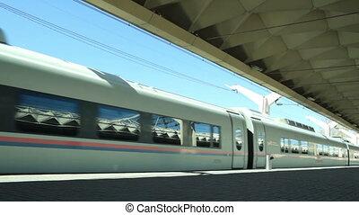 High-speed commuter train.