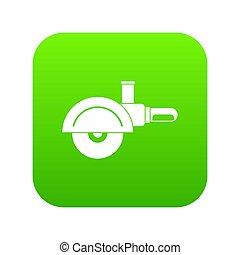 High speed cut off machine icon digital green