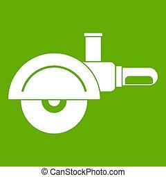 High speed cut off machine icon green