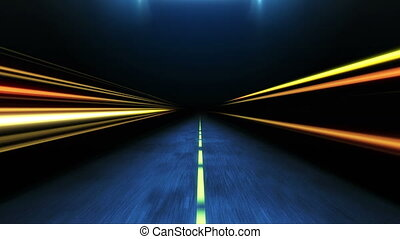 High speed driving in the night