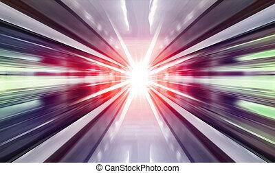 high speed in subway