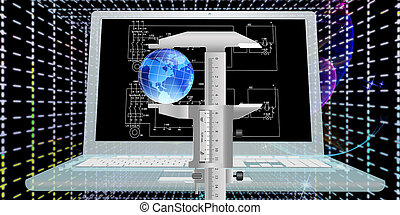 Engineering computing designing connection. High Speed Internet