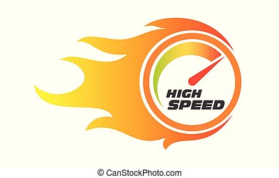 High speed internet performance gauge flame