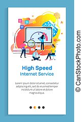 High Speed Internet Service, Monitor and People