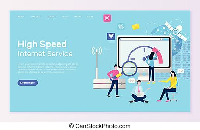 High Speed Internet Service Online Page and People
