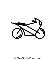 high speed motorcycle transport linear design vector ...