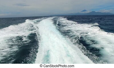 High speed on the Bali Sea in Indonesia