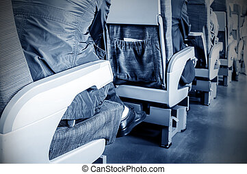 High-speed passenger train on