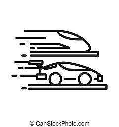 high speed technology illustration design