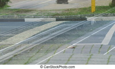 High speed traffic view - Digital composite of high speed ...