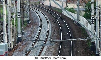 high speed train approaching