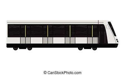 High speed train icon animation