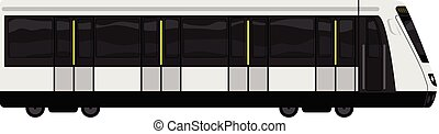 High speed train icon, cartoon style