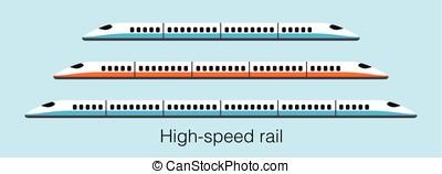 High speed train, modern flat design, vector illustration -...